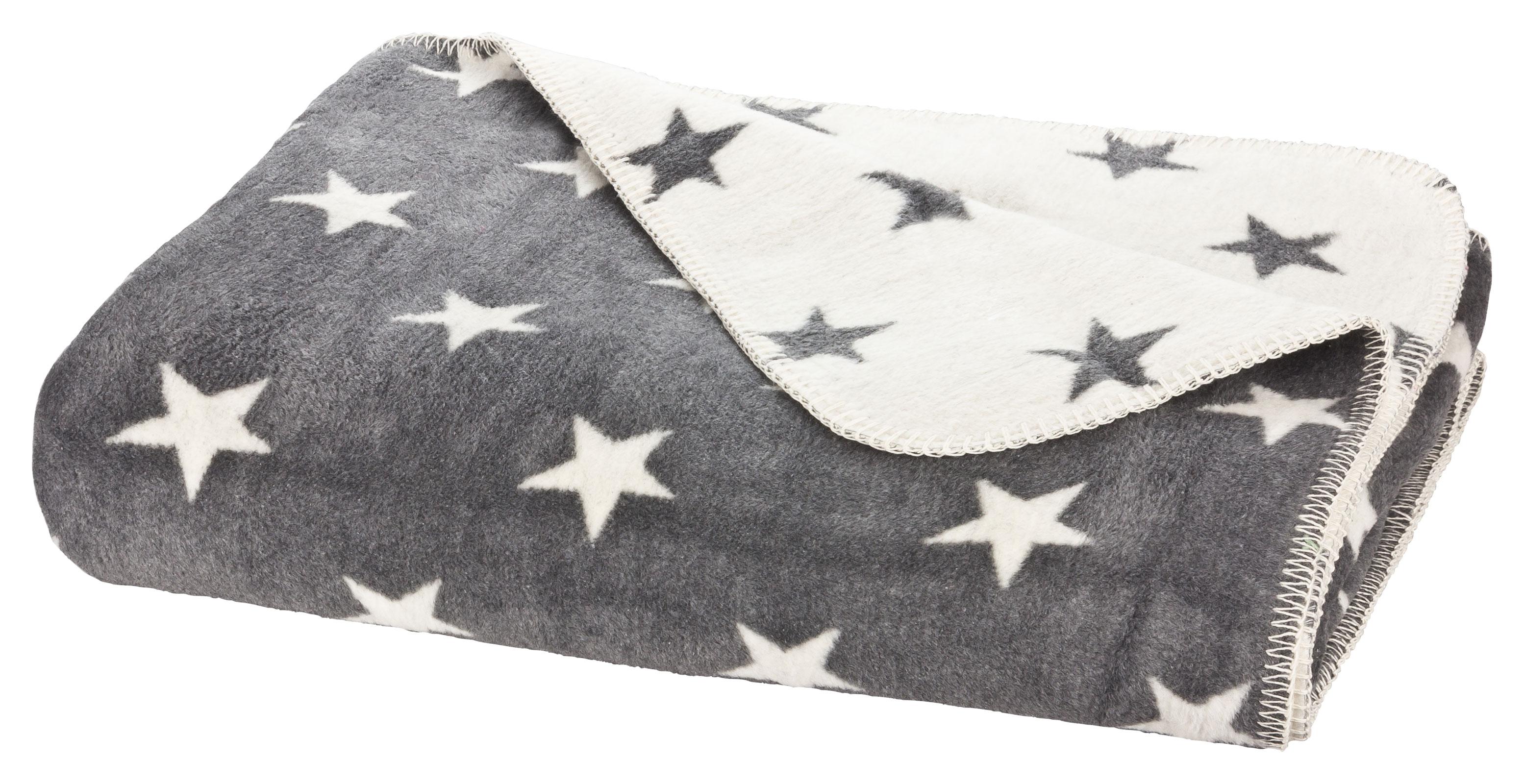 moon luxus sterne wolldecke kuscheldecke 150x200 ebay. Black Bedroom Furniture Sets. Home Design Ideas