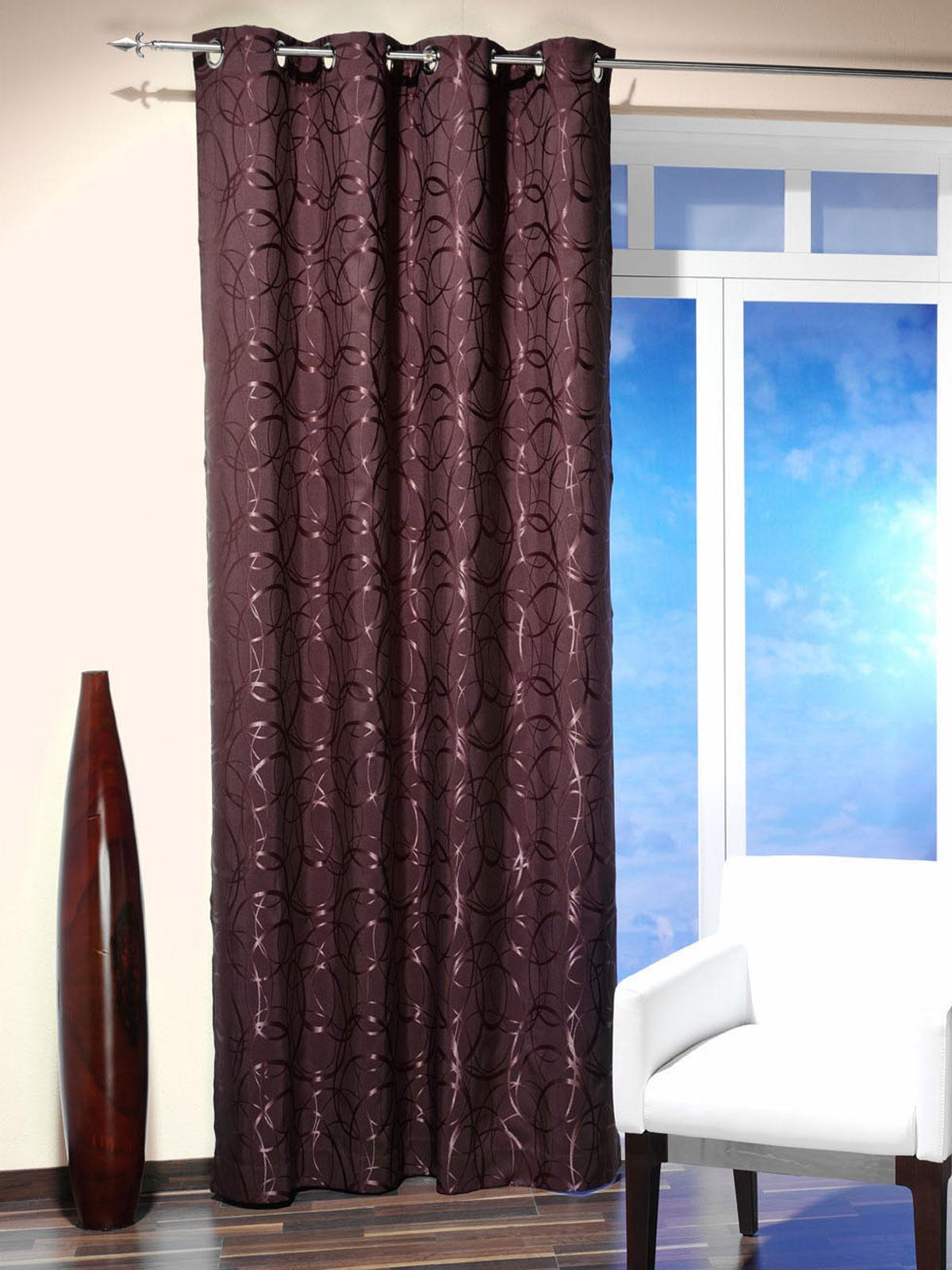 senschal vorhang gardine blickdicht 135 x 245cm dekoschal. Black Bedroom Furniture Sets. Home Design Ideas
