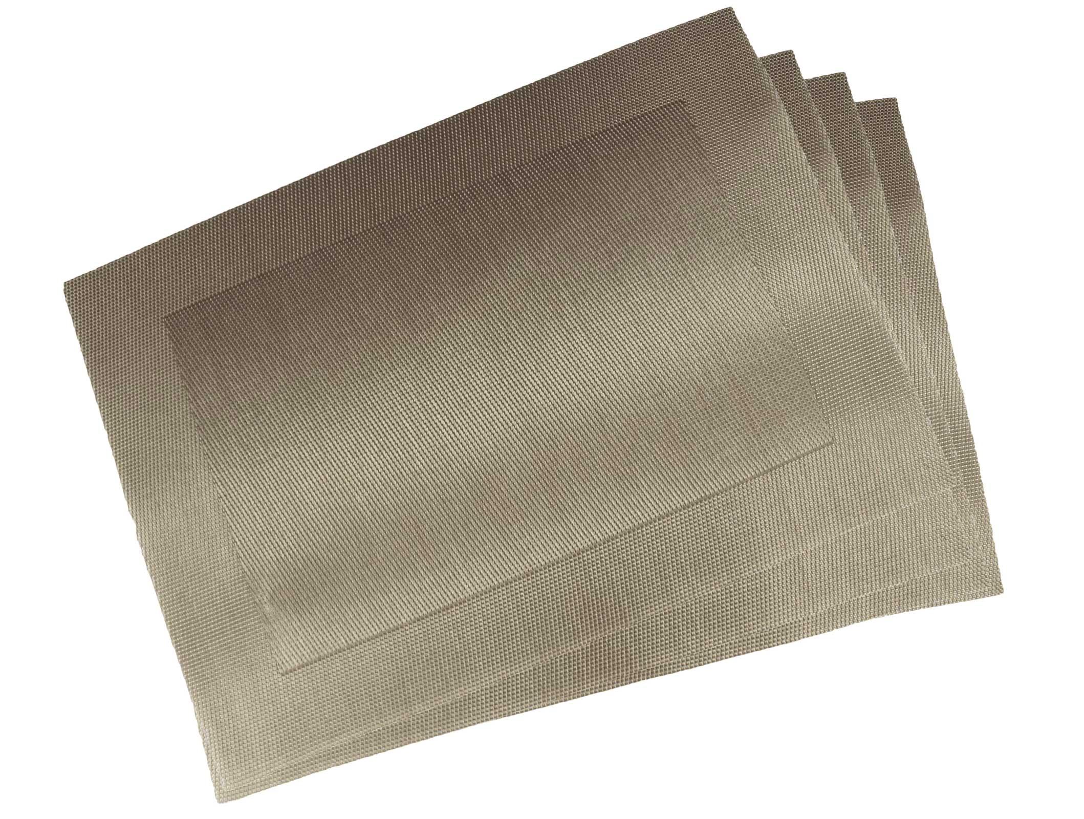 Küchentextilien - 6er Pack Platzset Tischset 30x45cm uni waschbar taupe  - Onlineshop PremiumShop321