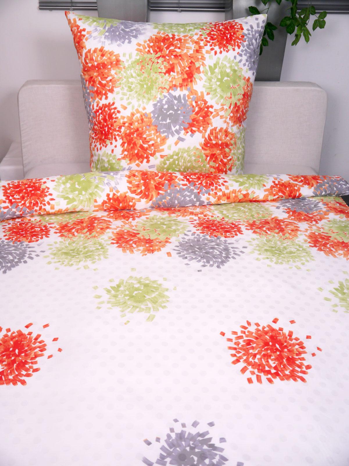 Bettwäsche - P.K. Collection Damast Bettwäsche DOT 02 135x200 80x80  - Onlineshop PremiumShop321