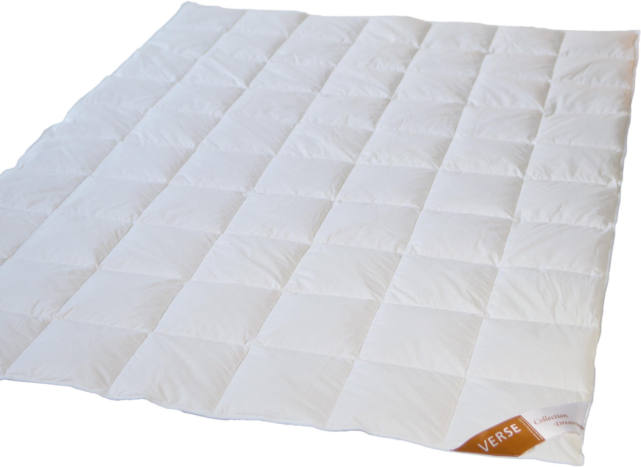 Bettdecken und Kopfkissen - Sommerdecke Daunen Bettdecke Verse Collection Dreaming 200x200 90 Daune 10 Feder  - Onlineshop PremiumShop321