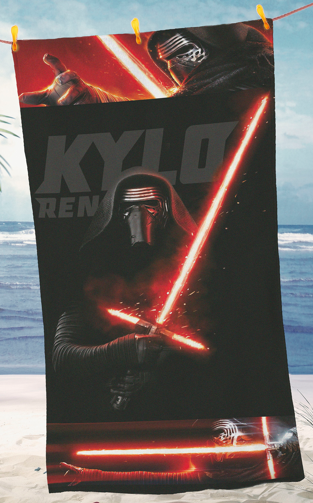 star wars kylo ren strandtuch strandlaken badelaken. Black Bedroom Furniture Sets. Home Design Ideas