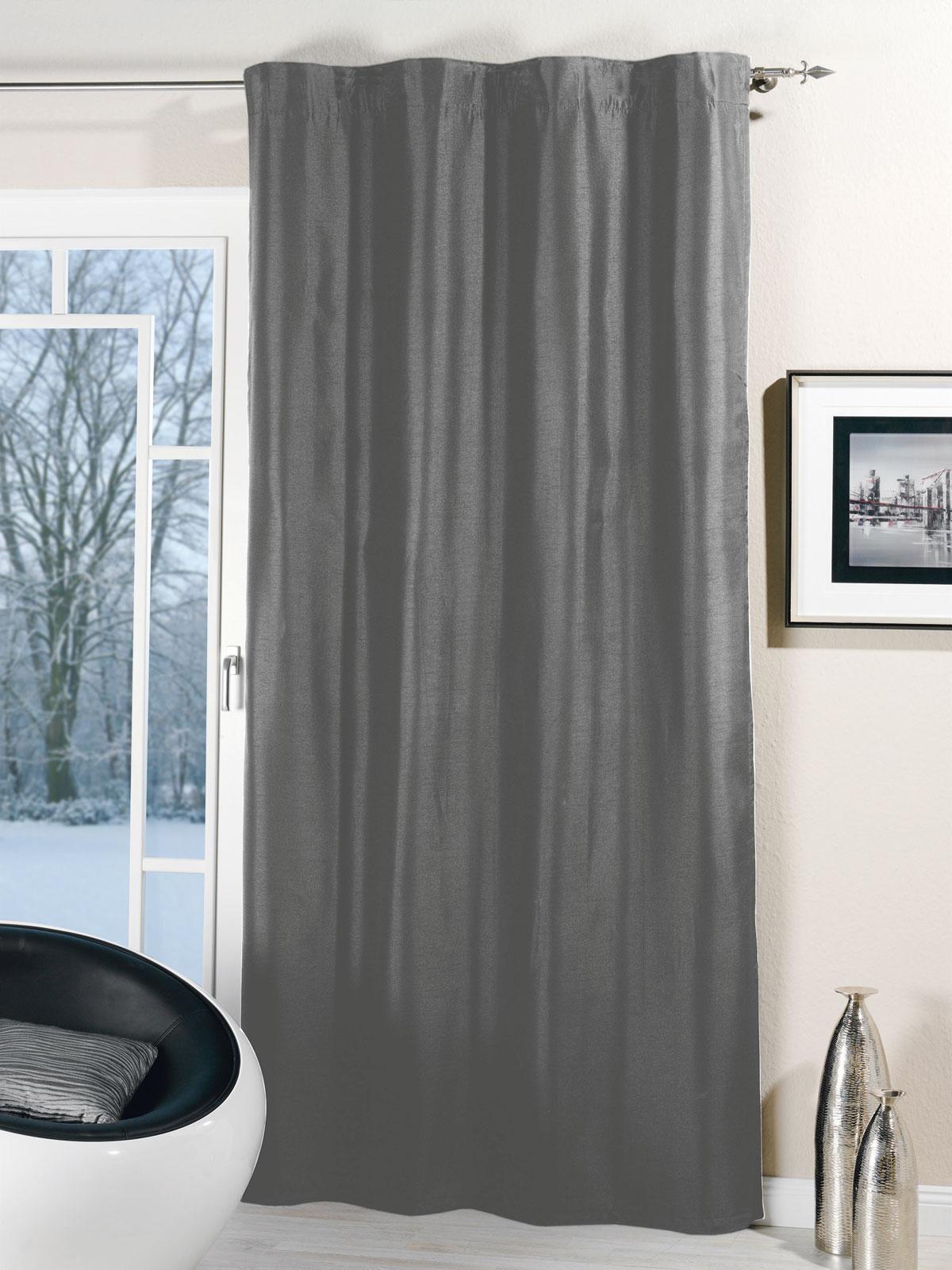 Gardinen und Vorhänge - Thermogardine Schlaufen Thermo Dekoschal Vorhang Frosty2 135x245  - Onlineshop PremiumShop321