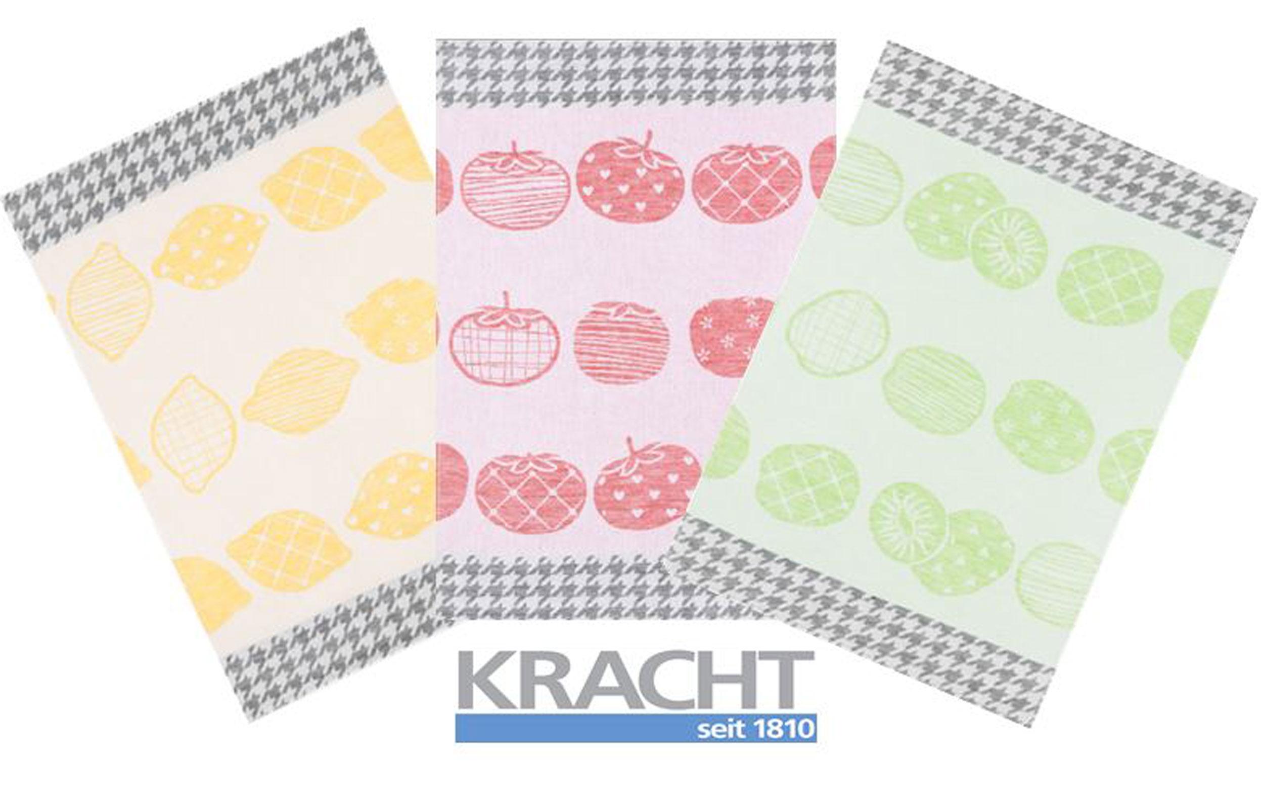 Küchentextilien - 3er Pack Kracht Halbleinen Geschirrtuch 50x70 Tutti Frutti 2 440  - Onlineshop PremiumShop321