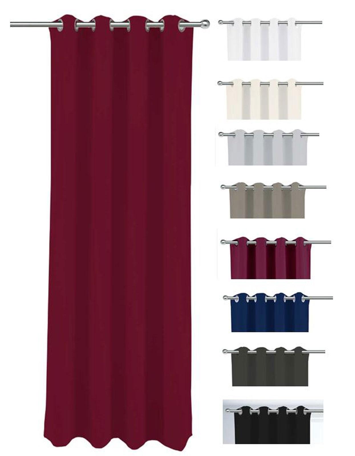 Gardinen und Vorhänge - 2er Pack Goldmond Vorhang Ösenvorhang blickdicht Halbverdunkelung Venedig 140x245cm  - Onlineshop PremiumShop321