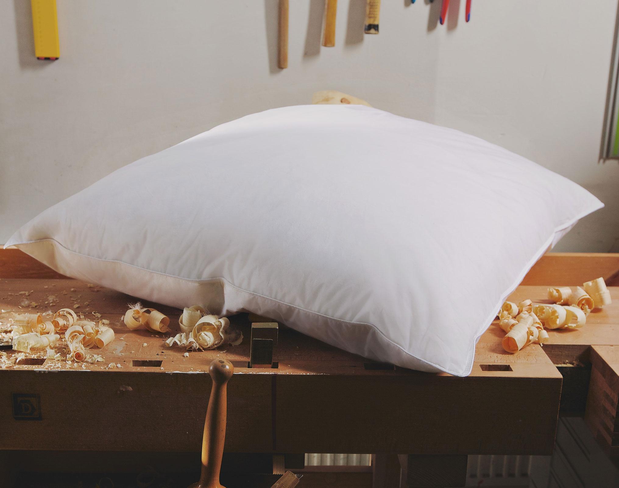 3 kammer zirbenholzkissen 40x80 zirbenholz und daunen kissen hermetic zirbe ebay
