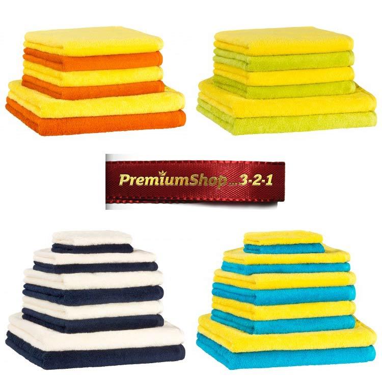 zweifarbige Handtuchsets 6-teilig 10-teilig von PremiumShop321